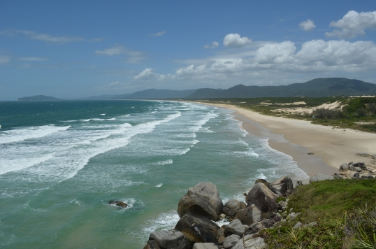 12km of deserted beach (Praia do Mocambique, Florianopolis)
