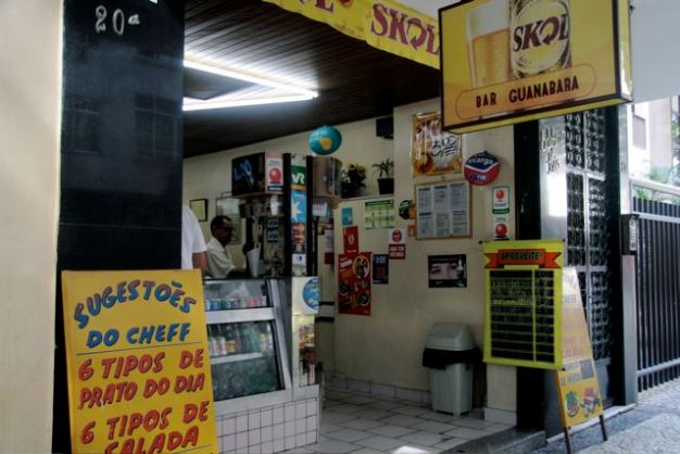 The exterior of a typical boteco.