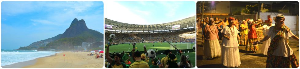 What are the first thing you associate with Brazil? Crime or beaches? Football or corruption? Samba or infrastructure?